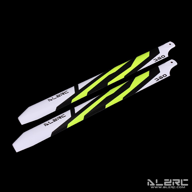 Carbon Fiber Blades - 360mm - Painting - Yellow