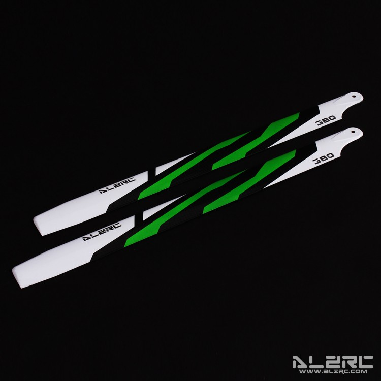 Carbon Fiber Blades - 380mm - Painting - Green