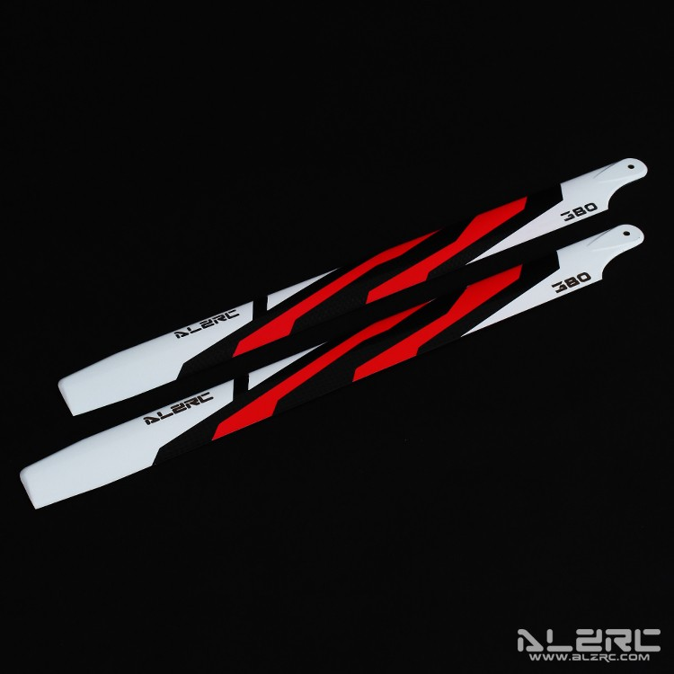 Carbon Fiber Blades - 380mm - Painting - Red