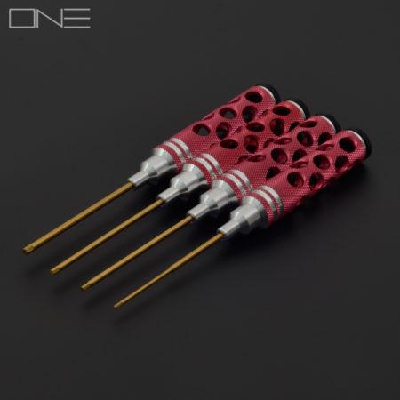 Hex Screwdriver Tool Kit - Red - H1.5/H2.0/H2.5/H3.0
