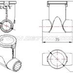 16MM T Type Mount for Foldable Landing Skid TL68B16