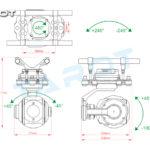 Tarot Multirotor 10X zoom Camera Gimbal TL10A00