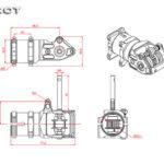 Tarot RC 600 Heli Metal Tail Box Set / Black MK6025-01