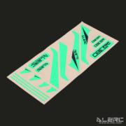 Devil 380 FAST Carbon Fiber Vertical Stabilizer Color Sticker - Green