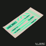 Devil 380 FAST Carbon Fiber Landing Skid Color Sticker - Green