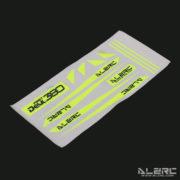 Devil 380 FAST Carbon Fiber Landing Skid Color Sticker - Yellow